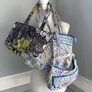 Vera Bradley Bundle 3 Bags Totes, Crossbody